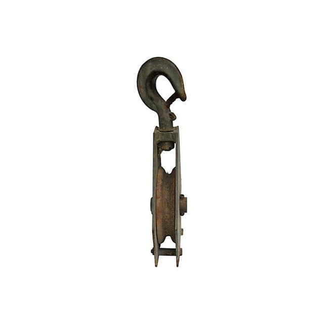 French Industrial Pulley Accent Piece For Sale - Image 5 of 7