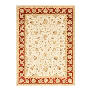 One-Of-A-Kind Traditional Hand-Knotted Area Rug, Beige, 10' 1 X 14 For Sale