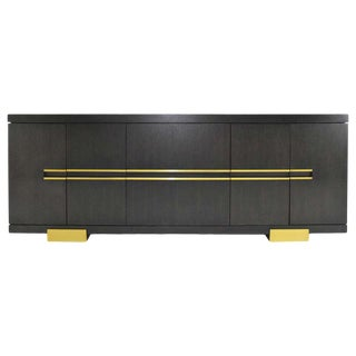 Holly Hunt Borneo Credenza/Sideboard in Oak For Sale