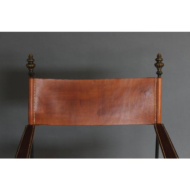1950s Vintage Italian Renaissance Savonarola Chair For Sale - Image 10 of 13