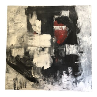 Abstract Black and White Oil Painting For Sale