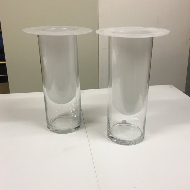 Double Glass Vases - a Pair For Sale In Palm Springs - Image 6 of 6