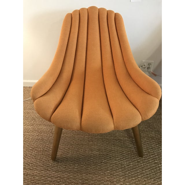 Jonathan Adler Brigette Orange Lounge Chairs - A Pair - Image 3 of 4
