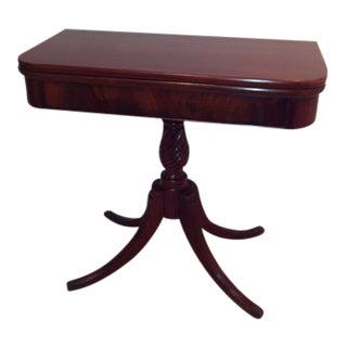 Federal Brandt Mahogany Gaming Table For Sale