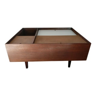 Milo Baughman Coffee Table in Exotic Mindoro Wood for Drexel For Sale