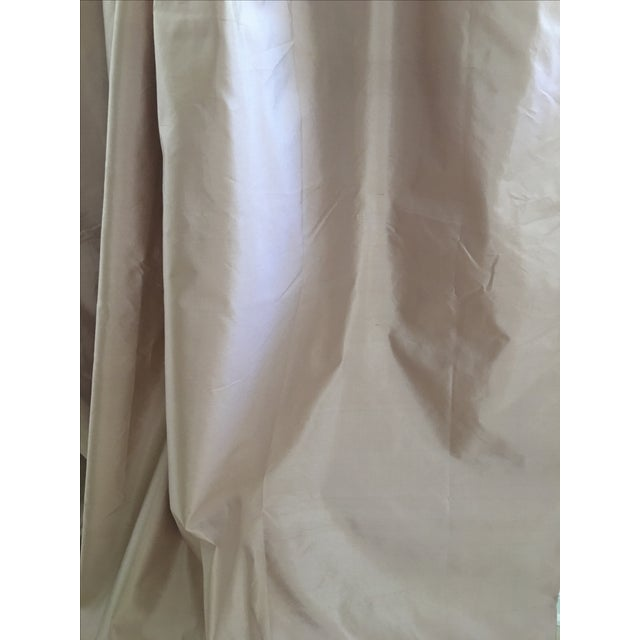 Contemporary Serena & Lily Silk Shantung Blush Drapes - S/3 For Sale - Image 3 of 7