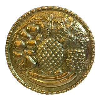 Vintage Mid Century Pineapple Brass Wall Pocket For Sale