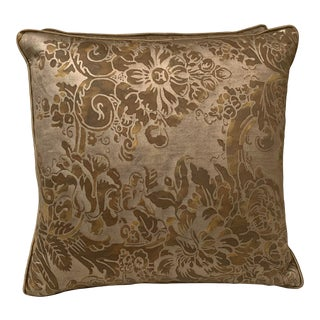 Tortoise & SilGold Fortuny Pillows - a Pair For Sale