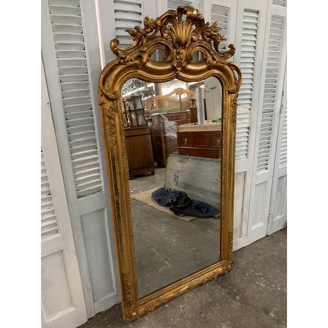 18th Century Ornate French Louis Philippe Style Mirror For Sale - Image 4 of 13