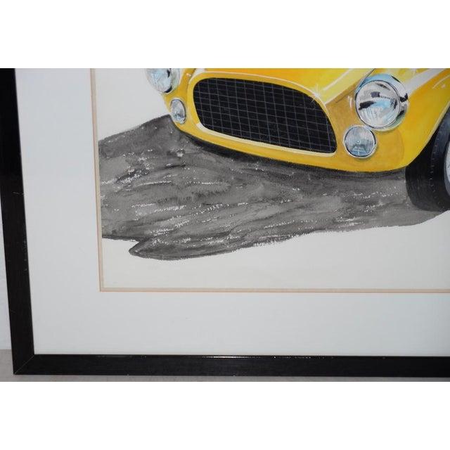 Classic Yellow Ferrari Original Watercolor by Stan Petersen C.1993 For Sale - Image 4 of 10