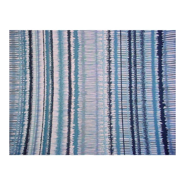 Lee Jofa Gp & J Baker Toledo Embroidered Ikat Upholstery Fabric- 2 7/8 Yards For Sale