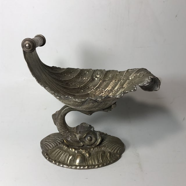 Mid-Century Modern Pair of Silver Bronze Dishes For Sale - Image 3 of 8