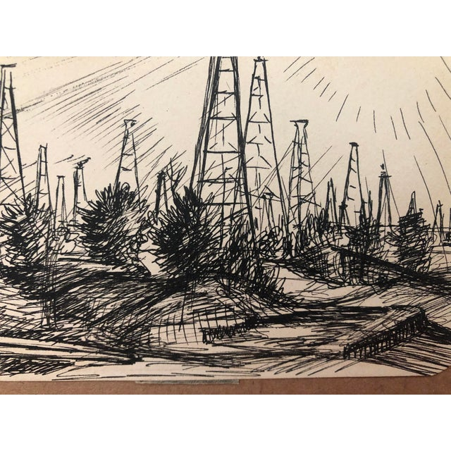 """Modern """"Oil Field, Kilgore, Texas"""" by William Palmer, 1944 For Sale - Image 3 of 5"""