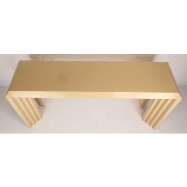 Lane Furniture Mid-Century Modern Lacquered Console Table by Lane Furniture Company For Sale - Image 4 of 9
