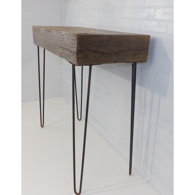 Industrial Reclaimed Wood Hairpin Legs Sofa Table