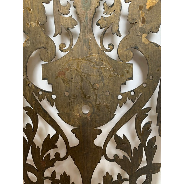 Vintage Pierced and Etched Brass Panels -A Pair For Sale - Image 12 of 13