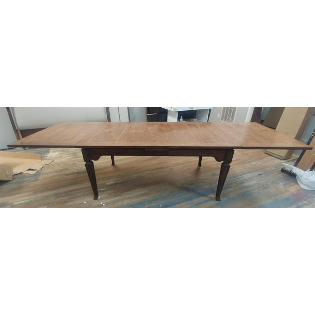 Henredon Furniture Acquisitions European Refectory Walnut Dining Table For Sale - Image 11 of 11
