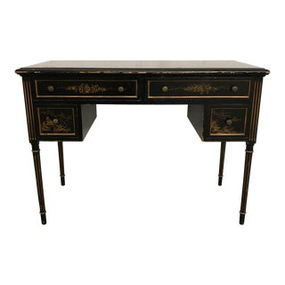 Black & Gold Chinoiserie Desk or Vanity