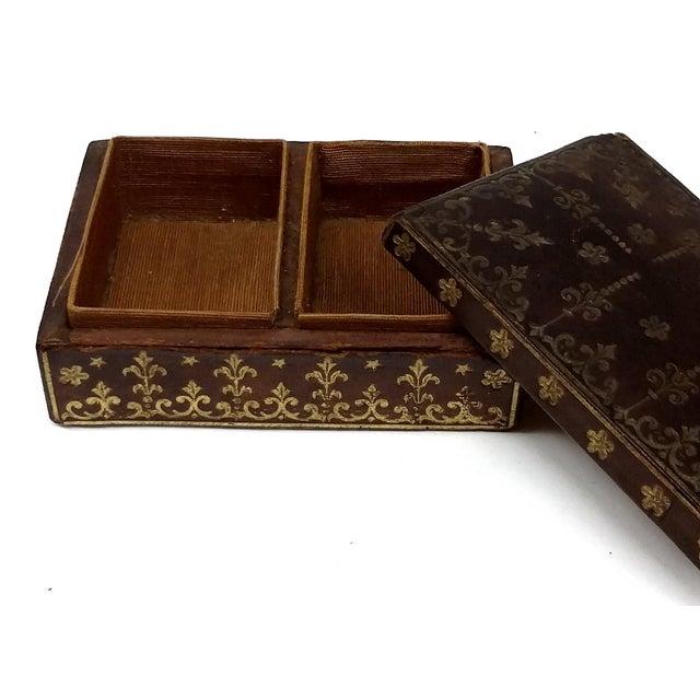 Mini Fleur-de-Lis Leather Box - Image 5 of 10
