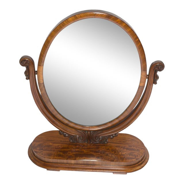Antique Oval Table Mirror For Sale