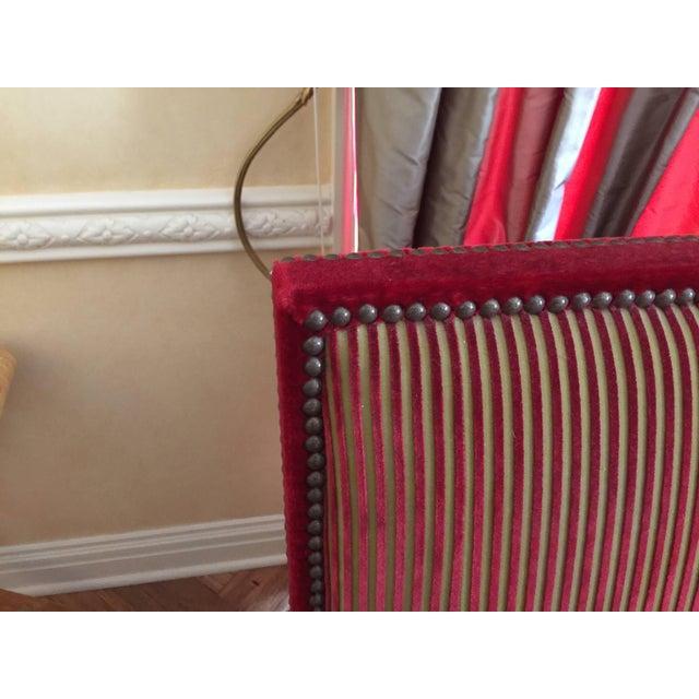Early 21st Century Mohair & Silk Striped Sofa - a Pair