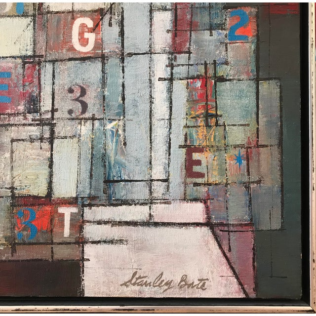 1960s Stanley Bate, Newstand Painting, Circa 1960 For Sale - Image 5 of 7