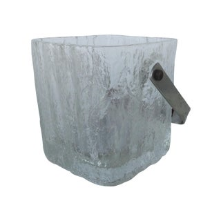 Vintage Hoya Textured Iceberg Ice Bucket For Sale