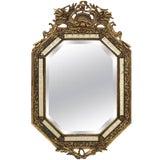 Image of 1900 Napoleon III Style Giltwood Wall Mirror For Sale