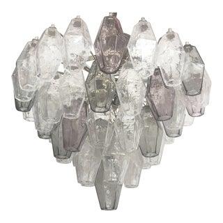 "Chandelier Murano Glass Multicolor ""Poliedro"""