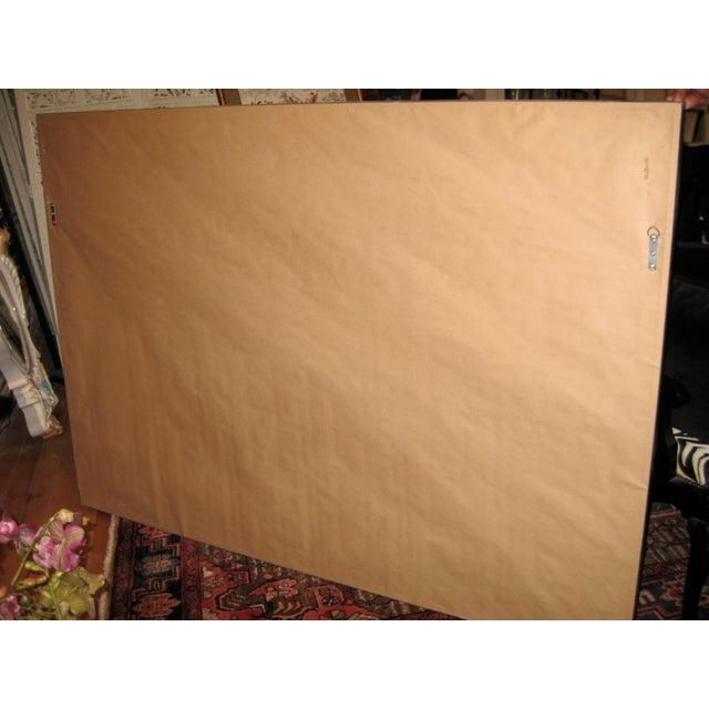 "Framed Antique Satin Log Cabin Quilt - 70"" x 50"" For Sale In Los Angeles - Image 6 of 6"