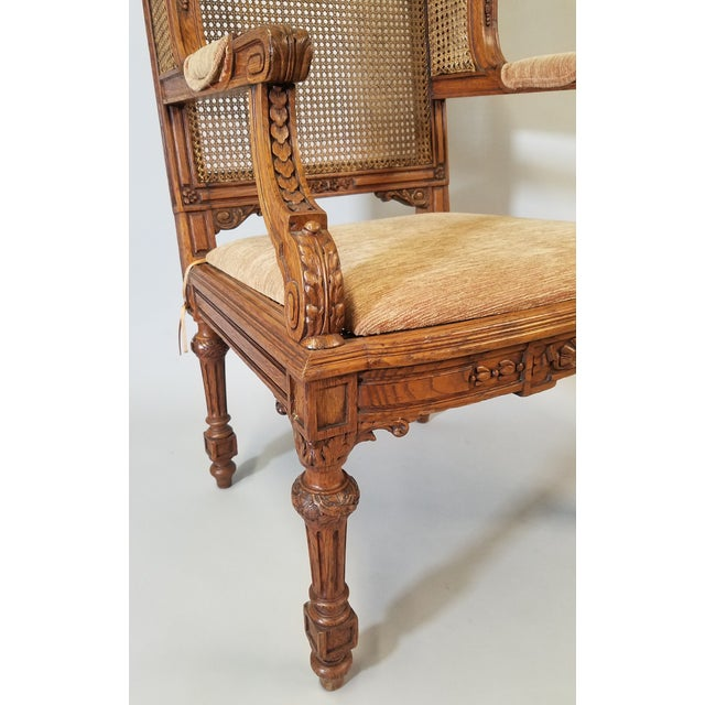 Wood 1910s Vintage Italian Renaissance Style Armchairs- a Pair For Sale - Image 7 of 13