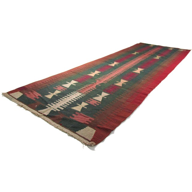 Handknotted old Oushak Kilim Rug from Turkey. %100 wool yarn and dyign method is naturel. Knotted in West side of Anatolia...