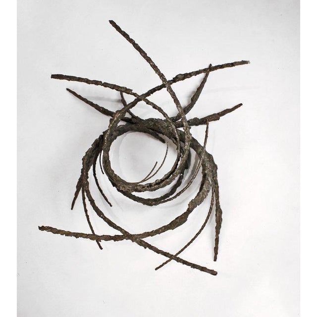 Metal Cast and Welded Sculptural Bronze Round 'Swirl' Coffee Table by Daniel Gluck For Sale - Image 7 of 12