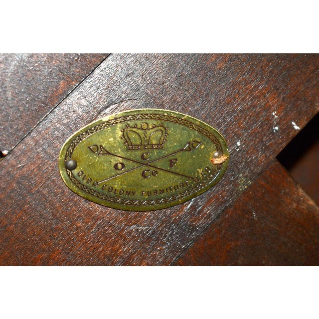 Vintage Old Colony Regency Style Inlaid Lazy Susan Cocktail Table For Sale - Image 12 of 13