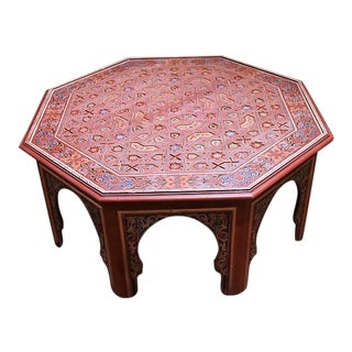 Moroccan Large Hand Painted Hexagonal Table