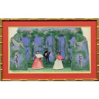 """Lanvin 'Spanish Geranium' Opera"" Watercolor For Sale"