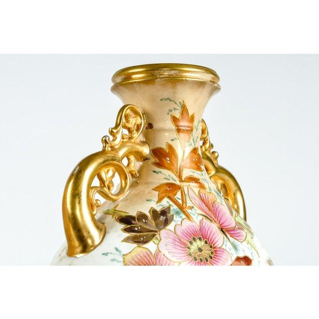 Traditional Antique Pair German Porcelain Pieces For Sale - Image 3 of 8