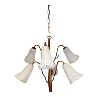 1980s Mid-Century Modern Italian Handcrafted Pendant Lamp For Sale