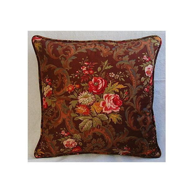 Custom American Folk Kings Floral Pillows - Pair For Sale - Image 4 of 9