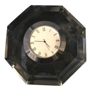 Diamond Cut Crystal Table Clock For Sale