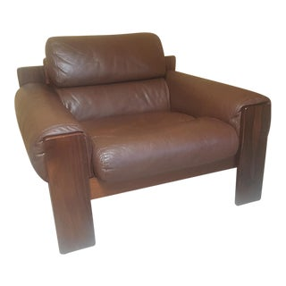 Rosewood and Leather Uu-Vee Kaluste Oy Finland Scarpia Lafer Style Side Chair For Sale