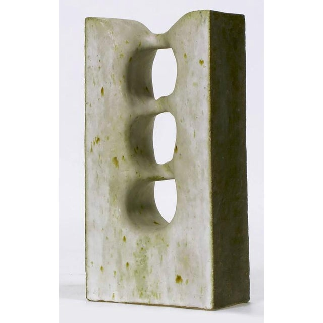1967 Double-Sided Abstract Ceramic Sculpture by Tomiya Matsuda (1939-2011) For Sale In Chicago - Image 6 of 7