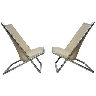 Ward Bennett Scissor Chairs For Sale