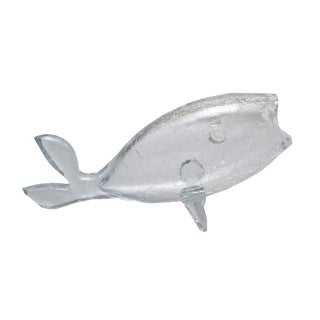 Hand blown Murano Clear Glass Fish-Shaped Bowl