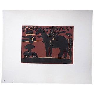 "Vintage Mid 20th C. Ltd. Ed. Picasso Lithograph-""Picador"" For Sale"