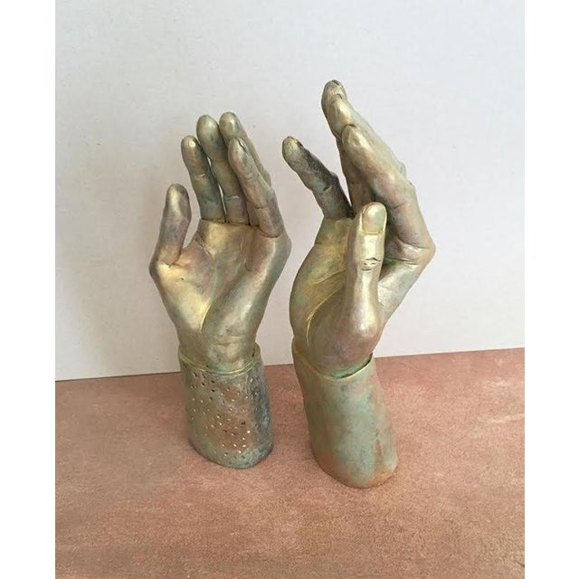 Sculptural Hand-Made Hands - Pair - Image 5 of 9