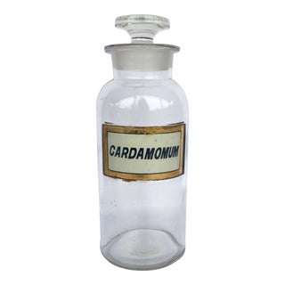 19th Century Traditional Wide Mouth Cardamomum Apothecary Bottle - For Sale