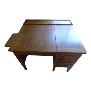 Solid Oak Secretary Desk For Sale