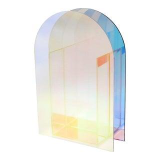 Iridescent Acrylic Postmodern Vase For Sale