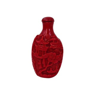 Chineses Crimson Snuff Bottle For Sale